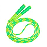 Jump Rope, Beads Segment Jump Rope, Sports-and-Fitness Rope for Kids, Men and Women, Adjustable Tangle-Free Jump Rope for Workout, Keeping Fit, Weight Loss and Training, 110 inch (Green) (Color: Green, Tamaño: 110inch)
