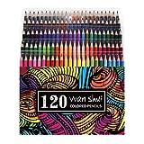 120 Colored Pencils - Premium Soft Core 120 Unique Colors (No Duplicates) Color Pencil Set for Adult Coloring Books, Artist Drawing, Sketching, Crafting (Color: 120 colors)