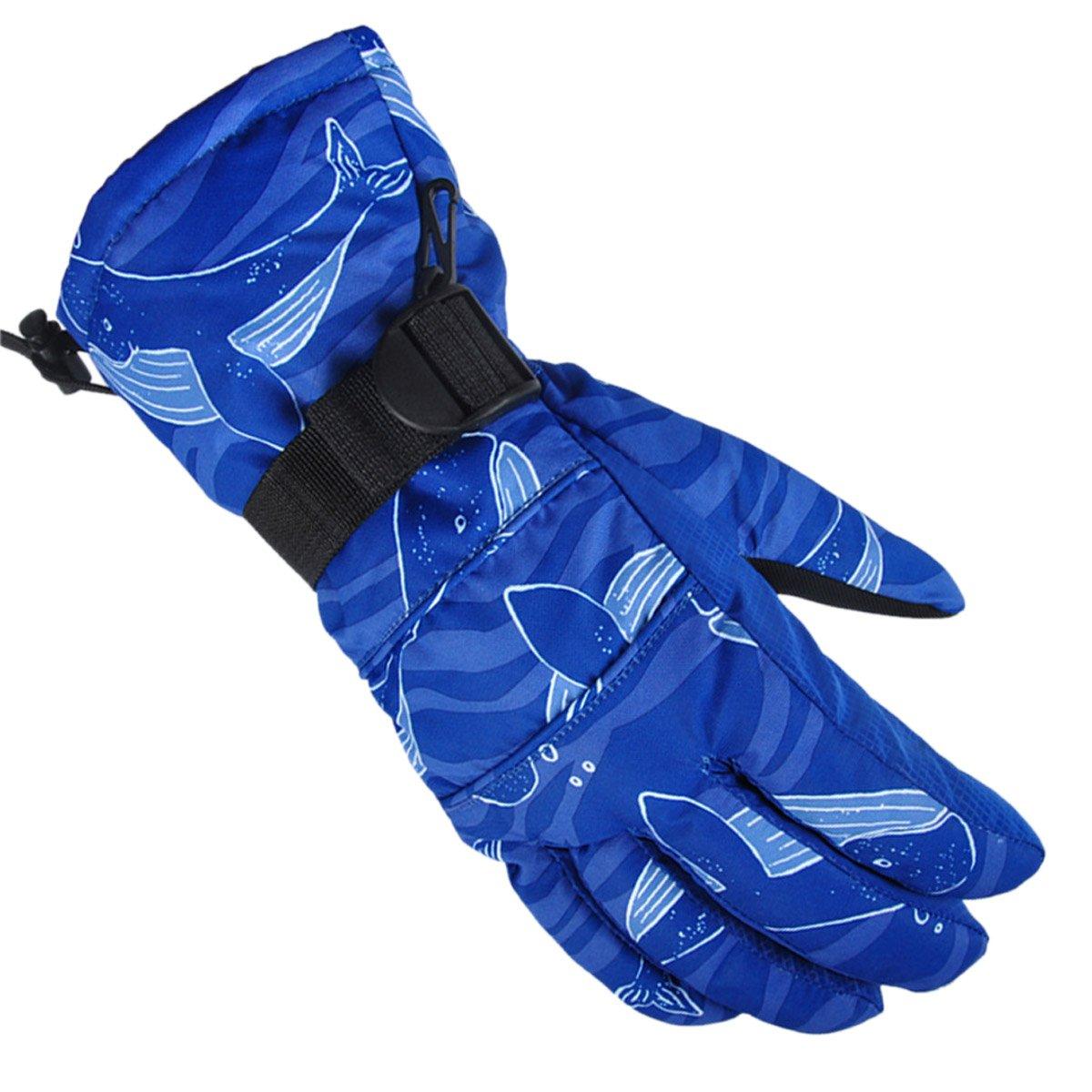 Men's Skiing Snowboarding Wrist Guard Gloves Winter Heated