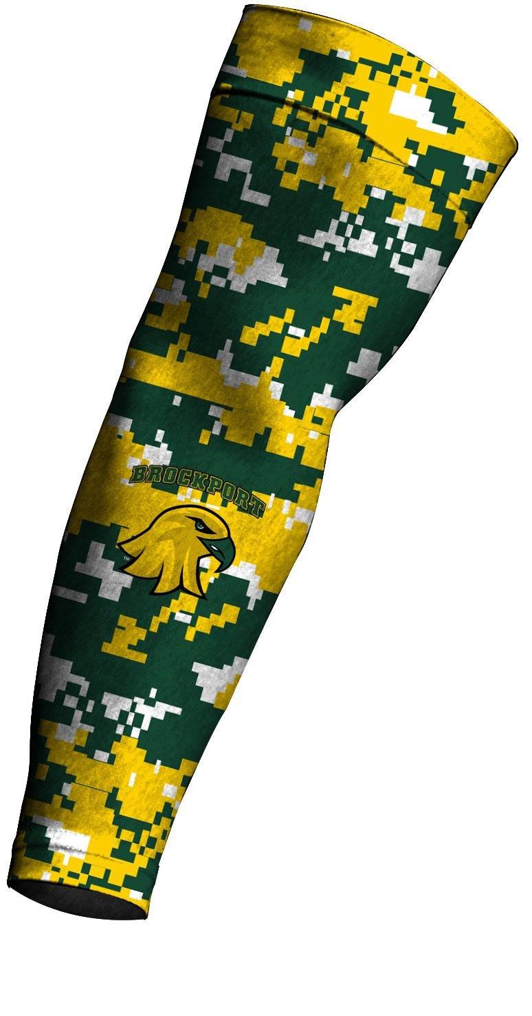 SUNY Brockport Golden Eagles Compression Arm Sleeve Digicamo Design mcdavid 6300 dual compression knee sleeve