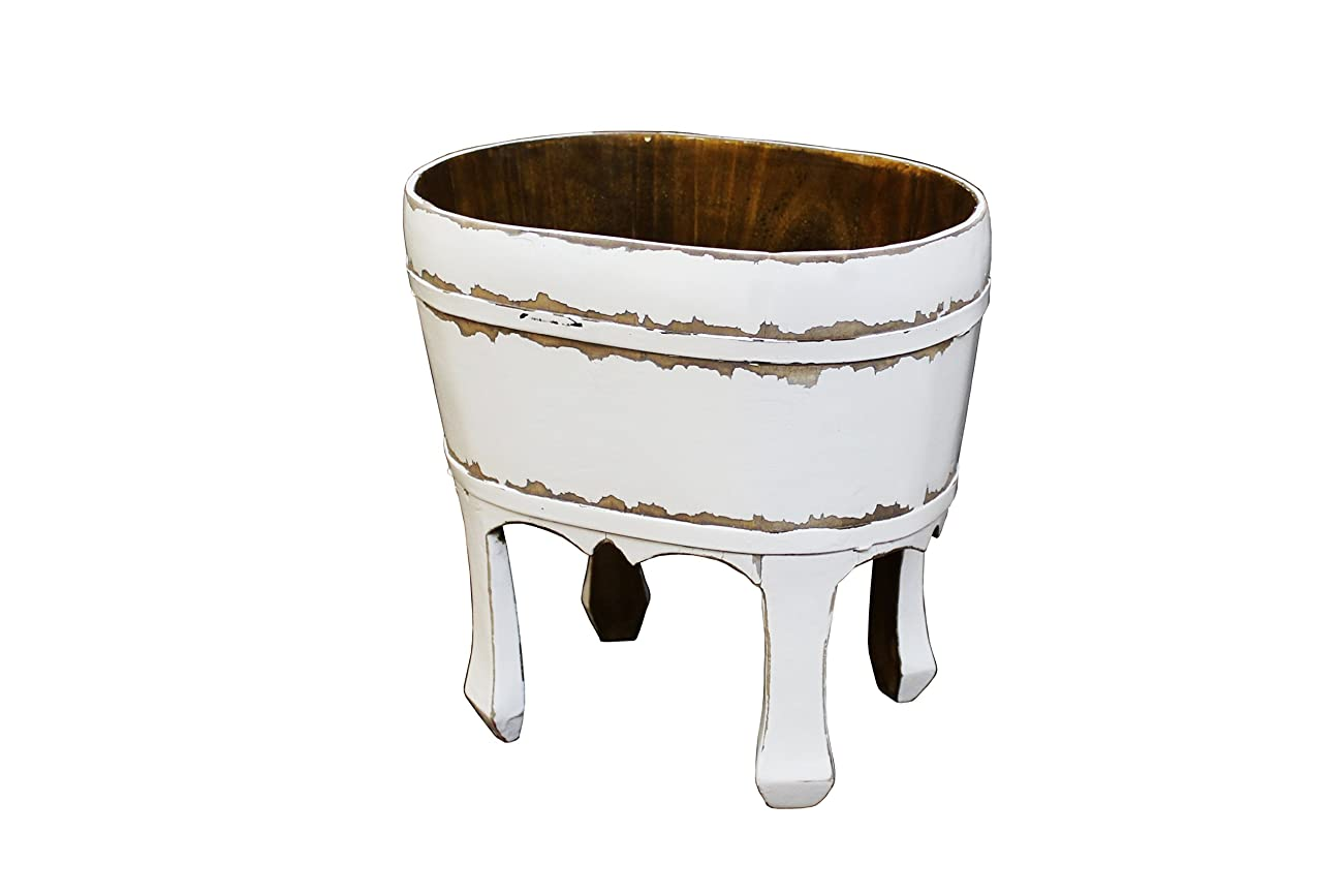 Antique Revival Namas Vintage Bucket, White 0