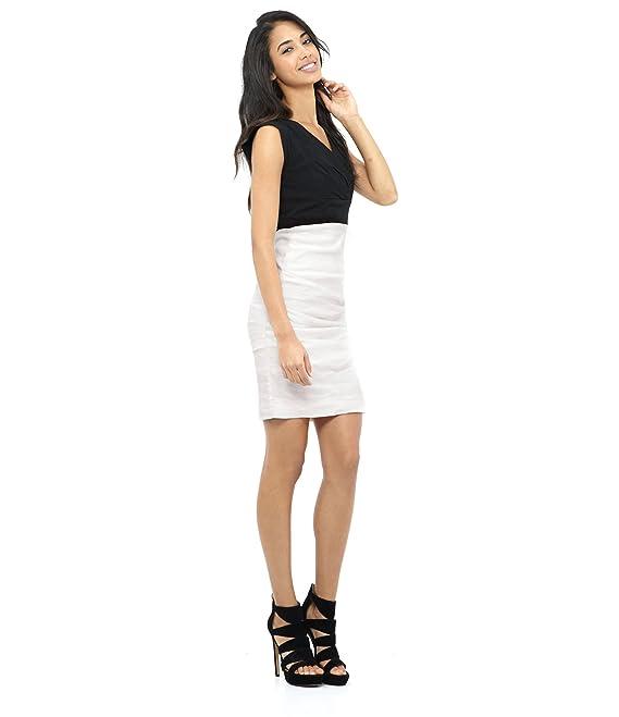 Nicole Miller Women's Andrea V-Neck Tucked Dress