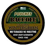 BaccOff, Classic Wintergreen Pouches, Premium Tobacco Free, Nicotine Free Snuff Alternative (5 Cans) (Tamaño: 5 Cans)