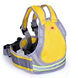 Jolik Child Motorcycle Safety Harness with 4-in-1 Buckle, Breathable Material in Yellow (Color: Yellow)