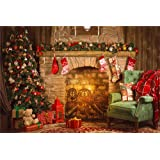 Qian Christmas Day Backdrops Photo Backgrounds 7x5ft Xmas Party