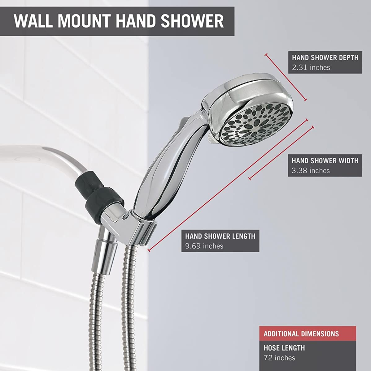 Delta Faucet 75700 Universal Showering Components 7-Setting Handshower, Chrome