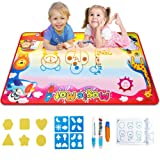 Gloween Water Doodle Mat, Kids Toys Aqua Drawing Mat for Boys Girls Age of 2 3 4 5-8 Year Old, Large Painting Writing Coloring Mats with 3 Magic Pens,