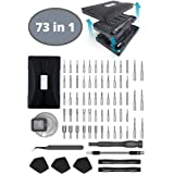 WIREHARD 73 in 1 Professional Precision Screwdriver Set - 70 Magnetic Specialty Bits - Repair Tool Kit FOR iPhone X, 8, 7 and below - SmartPhone - Computer - Tablet - Xbox - PlayStation - Electronics (Color: Matte Black, Tamaño: 73 in 1)