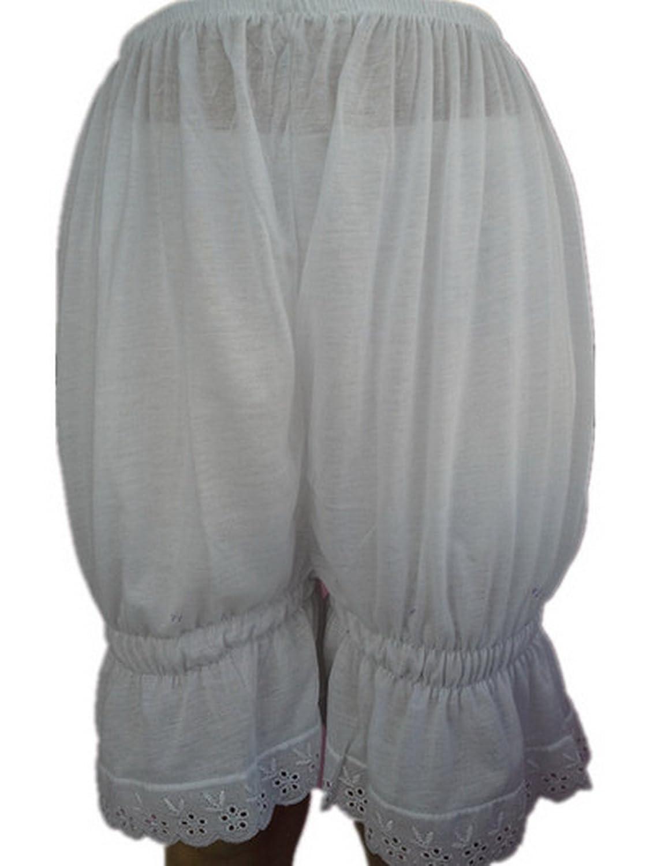 Frauen Handgefertigt Halb Slips UL2CWH WHITE Half Slips Cotton Women Pettipants Lace günstig bestellen