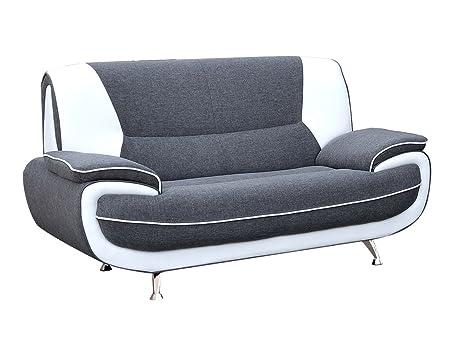Zweisitzer Sofa Palermo 2, Relaxsofa vom Hersteller, Polstermöbel, Modern Couch, Große Farb- und Materialauswahl, Sofagarnitur, Couchgarnitur (Sawana 05 + D-511)
