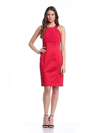 ESPRIT Collection Damen Kleid, Etui 034Eo1E014 Einfarbig, GR. 40 (Herstellergröße: 40), Rot (Geranium Red)