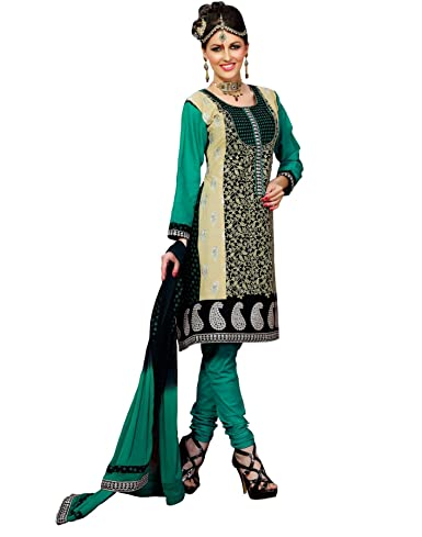 Cenizas embroidered Semi Stich Salwar Suit Duptta (2008) at amazon