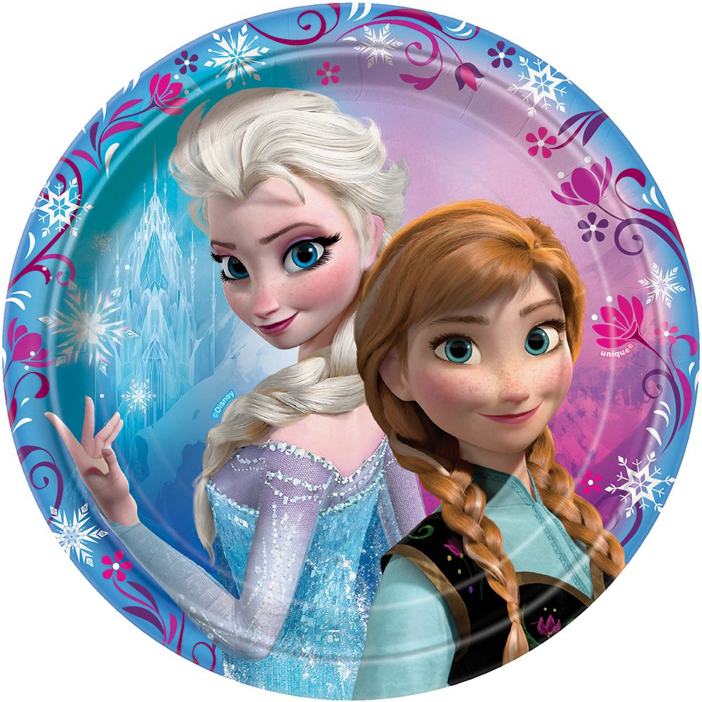 Frozen Party Plates Birthday Girls Wikii