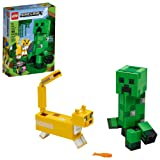 LEGO Minecraft Creeper BigFig and Ocelot Characters 21156 Buildable Toy Minecraft Figure Gift Set for Play and Decoration, New 2020 (184 Pieces) (Color: Multicolor)