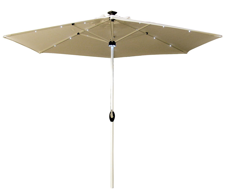 Patio Umbrella Solar Lights: New 9 Ft Outdoor Patio Aluminum Umbrella With Solar