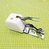 YICBOR Presser Foot Slant Shank Side Cutter Cut & Hem Attachment for Singer Brother Janome