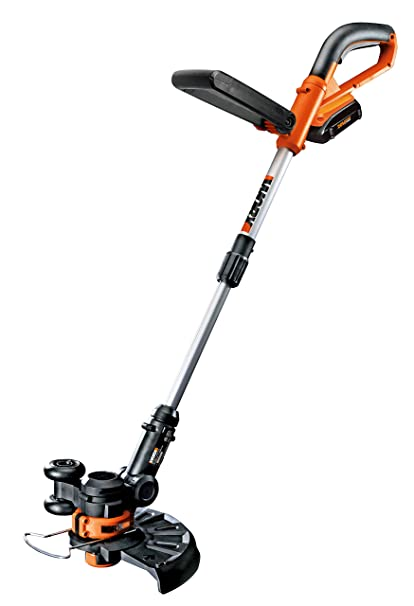 5. WORX WG156 Li-Ion Cordless Grass Trimmer/Edger with 2 20-volt Batteries and Manual Handle, 10-Inch