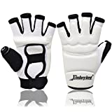 Xinluying Punch Bag Taekwondo Karate Gloves for Sparring Martial Arts Boxing Training Fingerless Women Kids Small (Color: white, Tamaño: Small)