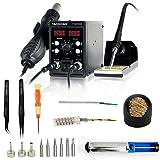 YAOGONG Automatic 2 In 1 Hot Air SMD Digital Rework Soldering Station Mobile Phone Repair Tools Set. (Color: 8586SET)