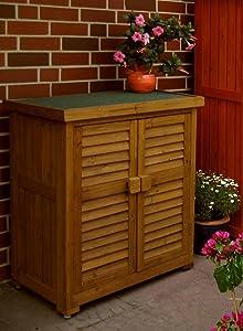 Leco Gartenschrank Schrank in mahagoni 95cm  GartenKundenbewertung und weitere Informationen