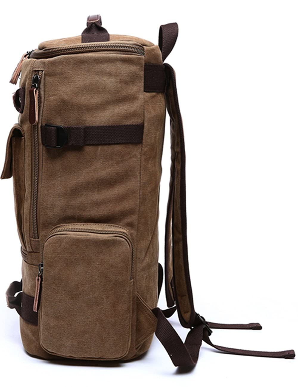 Aidonger Unisex Vintage Canvas Backpack Laptop Backpack 3