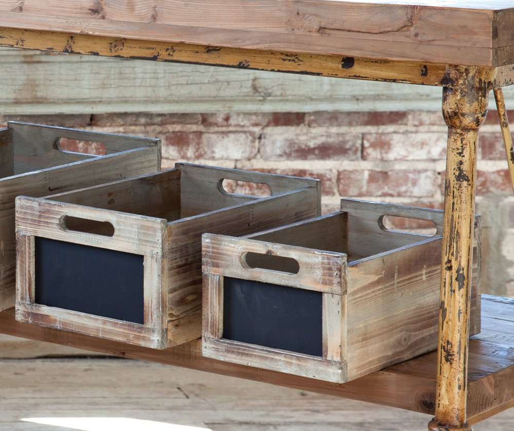 Produce Crates with Chalkboard Labels
