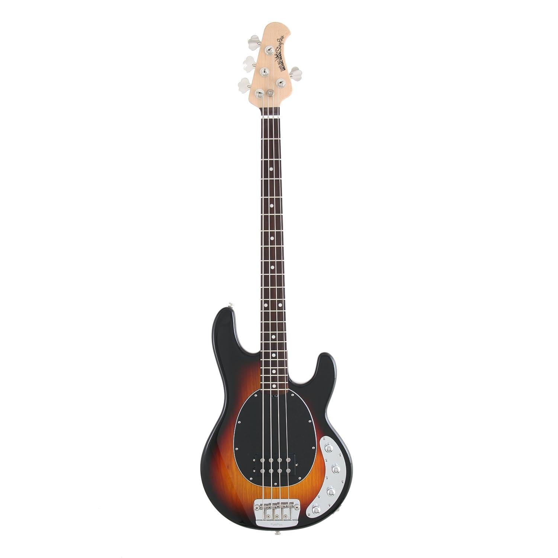 ernie ball music man stingray 4 string electric bass guitar w tsa approved case ebay. Black Bedroom Furniture Sets. Home Design Ideas