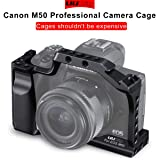 UURig C-M50 Metal Cage for Canon M50 Vlog Camera, Monitor/Microphone/Video Light Cold Shoe Mount, Plenty Extension Mounting Options, Video Shooting Vlogging Accessories, with 1/4
