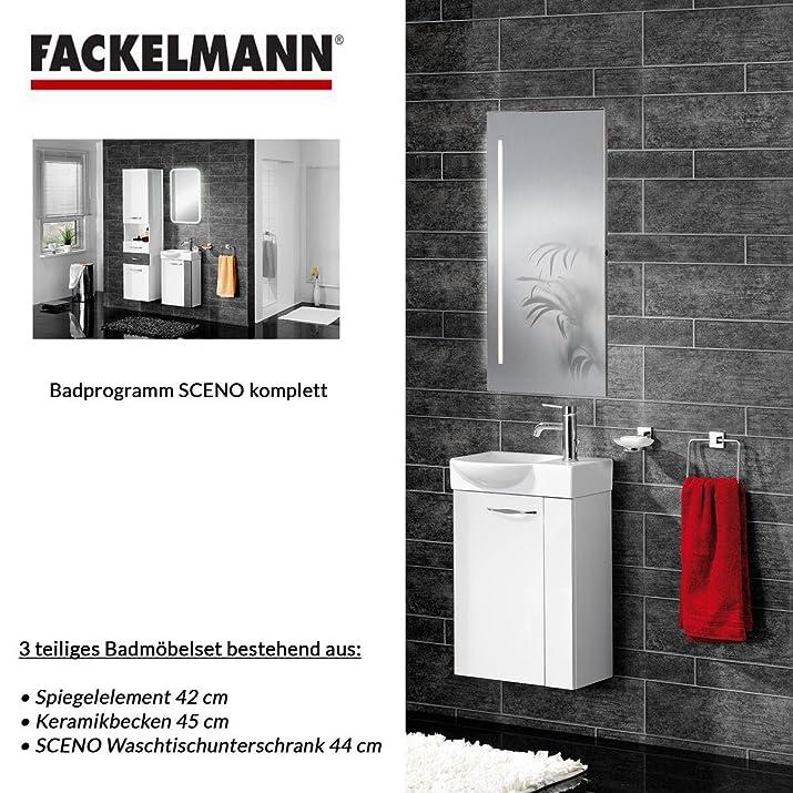Fackelmann Sceno Set di 3accessori da bagno per lavello/lavabo/Specchio