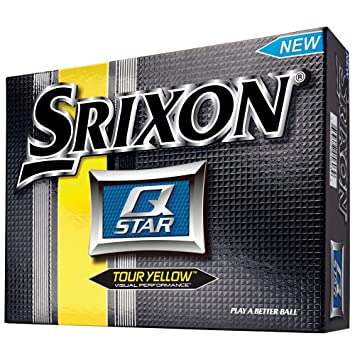 Srixon Men's Q-Star Golf Balls (1-Dozen), Tour Yellow