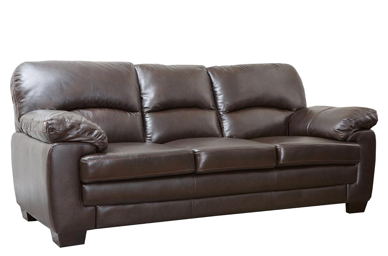Abbyson Living Plaza Italian Leather Sofa