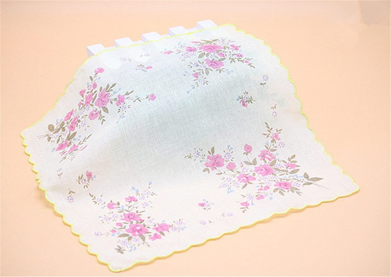 Colorful Women Quadrate Floral Handkerchiefs Wedding Party Fabric Hankies 4