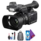 Panasonic AG-AC30 Full HD Camcorder with Touch Panel LCD Screen & Built-in LED Light + Pro Accessories Bundle (Color: with Pro Accessories, Tamaño: 1080p)