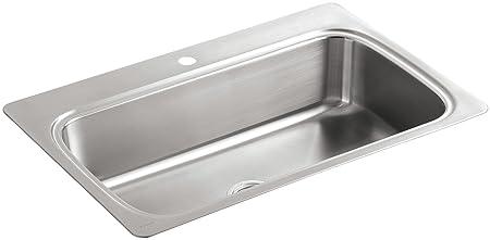 KOHLER K-3373-1-NA Verse Single-Basin Self-Rimming Kitchen Sink