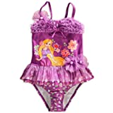 Disney Store Princess Tangled Rapunzel Girl Two-piece Swimsuit (S 5/6)