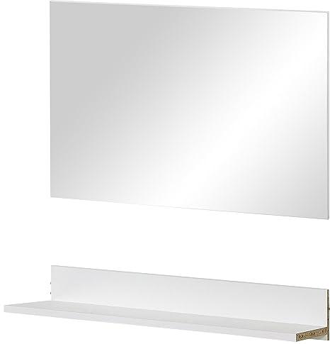 Germania 3459-84 Platte mit Spiegel Colorado, 90 x 12 x 40 cm und 89 x 54 x 3 cm, weiß