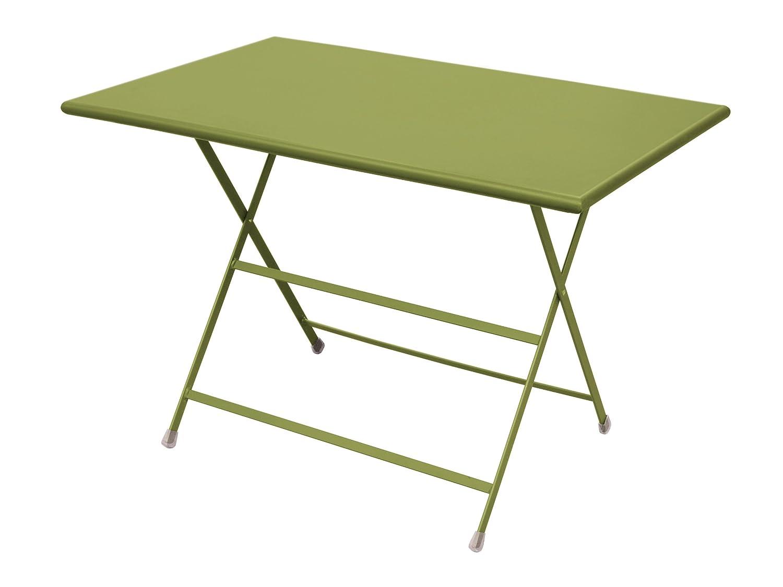 Emu 303316000 Arc En Ciel Klapptisch 331, 110 x 70 cm, pulverbeschichteter Stahl, grün
