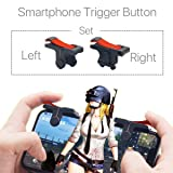 PUBG Fortnite [Upgrade Version] Mobile Game Controller, Clicky Feeling L1R1 Sensitive Shoot and aim for PUBG/Fortnite/Rule of Survival/Knives Out, Compatible with iOS/Android/Windows Smart Phone (Color: Black/Red)