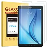 [2 PACK] Galaxy Tab E 9.6 Screen Protector, SPARIN Ultra Clear High Definition Tempered Glass Screen Protector for Samsung Galaxy Tab E 9.6 Inch (Color: Clear)