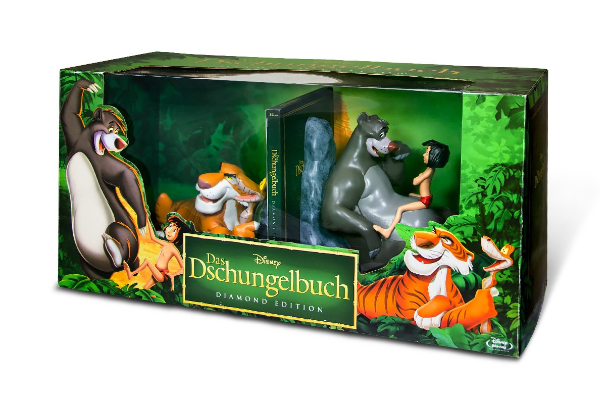 Das Dschungelbuch – Diamond Edition 2013 (inkl. Buchstützen) [Blu-ray] für 49,99€ inkl. Versand