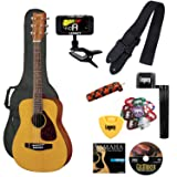 Yamaha JR1 FG Junior 3/4 Size Acoustic Guitar with Gig Bag and Legacy Accessory Bundle (Color: Natural, Tamaño: w/ Legacy Accessories)