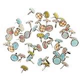 Jili Online 50 Pieces Metallic Mini Metal Brads Fastener for Scrapbooking Embellishment (Color: Mixed Color, Tamaño: 12mm)