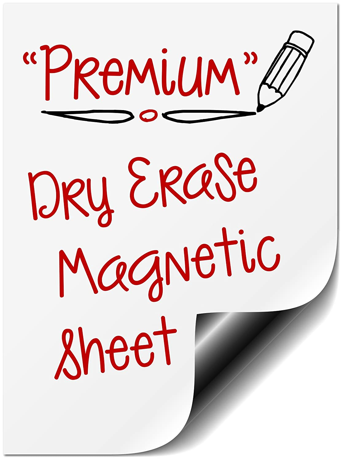 """Bigtime Mini Magnetic Dry Erase Message Board for Refrigerator Horizontal or Vertical Whiteboard Planner Fridge Magnet. Also Great as a Meal, Grocery, To Do or Chore List.(8.5 x 11"""" Small Blank)"""