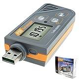 Digital USB Humidity/Temperature/Barometric Pressure Data Logger Gauge Monitor Sensor Plug and Play, Generate PDF & Excel, 6 Languages,PHA,inHg, ?, ? and RH