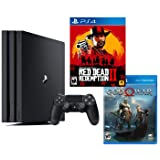 PlayStation 4 PRO Red Dead God War Bundle: RED Dead Redemption 2, God War, PlayStation 4 PRO 4K HDR 1TB Console