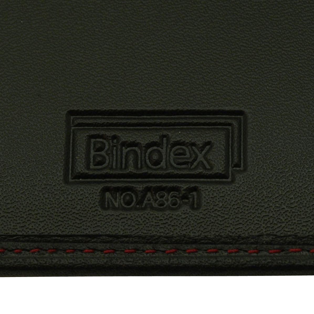 bindex システム手帐 ベリス 黑色 a5 (红色ステッチ) aa86-1