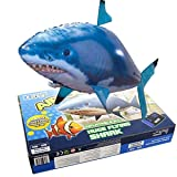 cooloh Remote Control Inflatable Balloon Air Swimmer Flying Shark Fish Radio Blimp (Blue Shark) (Color: Blue Shark)