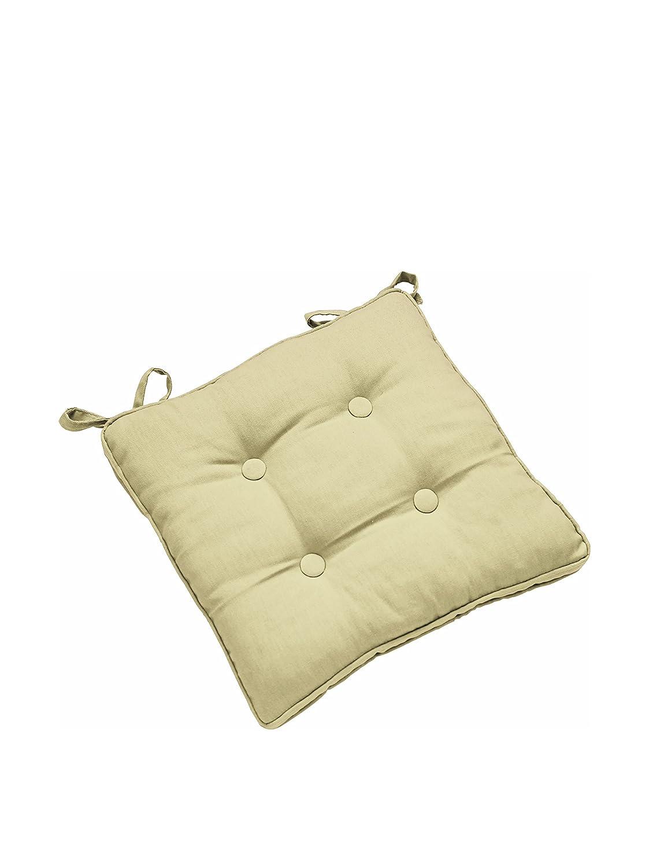 Stuhlauflage mit Knöpfen 38x38 beige