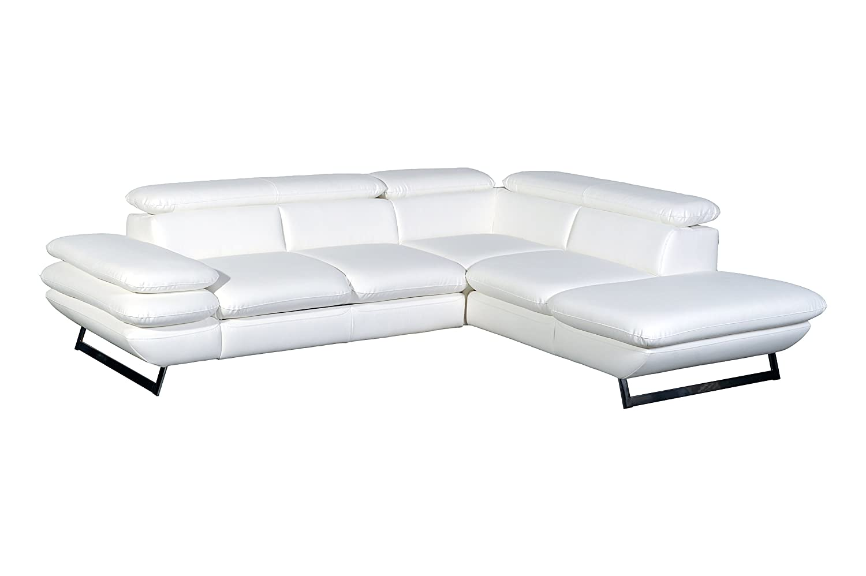 Cotta C733895 D200 Polsterecke Lederimitat, weiß, 265 x 223 x 74 cm