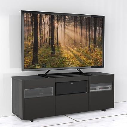 Contemporary Black Espresso 60 Inch TV Stand FMP25262